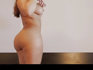 Hot bubblebutt pawg stripping naked bedroom...