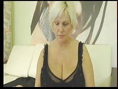 Webcam Woman in Black Slip and Tights