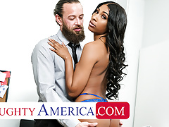 Naughty America - Olivia Jayy fucks her way out of trouble