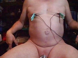 slave j1306: hard teasing with electric nipple clampsHD Sex Videos