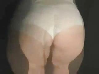 In panties...