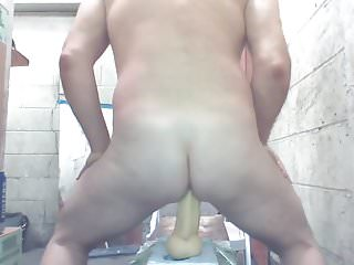 Joeyd sits on fat moaning and cumming...