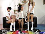 UK les mature joining schoolgirls in trio