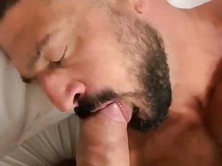 Dad pumps cock...