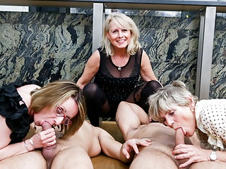 First Ever Cock  Granny Fest! Orgy!