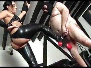 Mistress Ballbusting Her Slave
