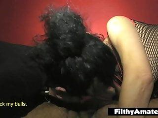 She has been sucking cocks since she woke up, a really nasty