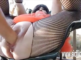 And bottle fucking bbw bucket pussy...