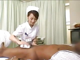 Asian nurses drain black cock...