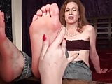 Neice Worships aunts mature soles