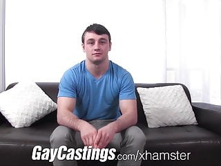 Gaycastings muscular athlete shows cash...