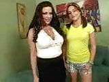Sexy MILF and her hot daughter's friend share a big cock