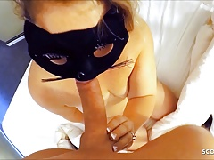 German Wife Has Real Cheating Sex with Young Boy in Hotel