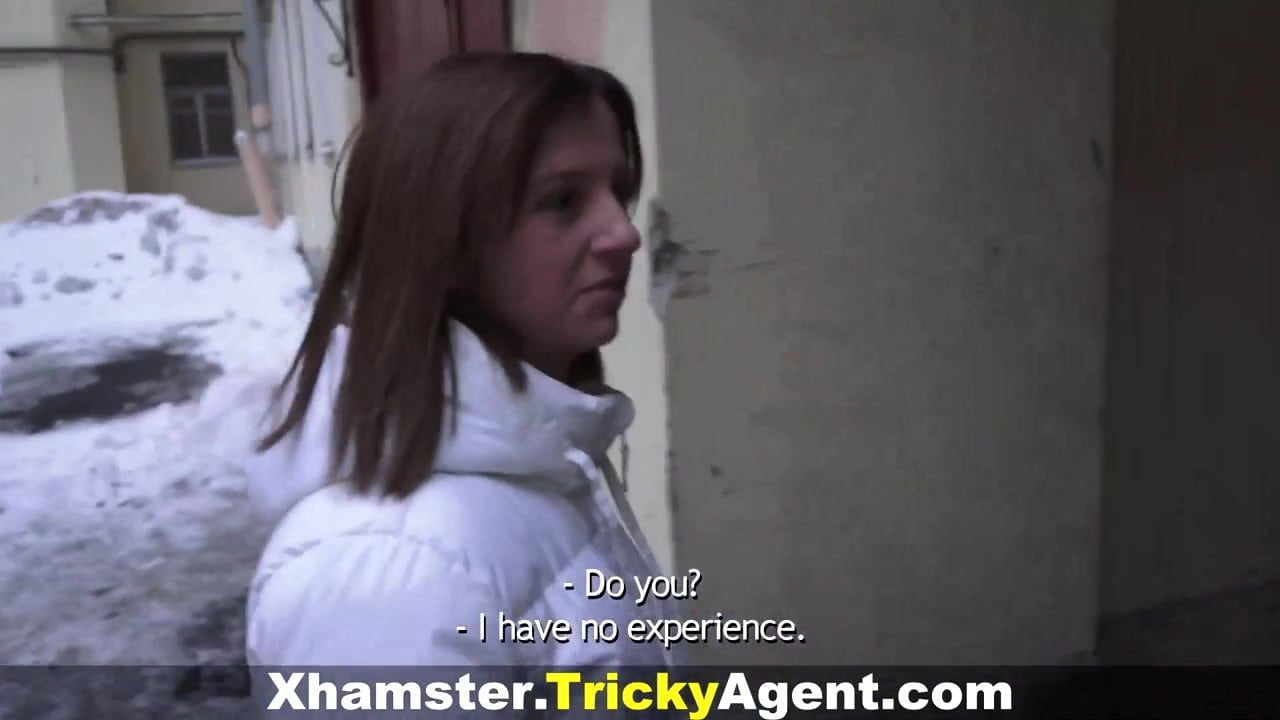 Agent Street Porn tricky agent - sex casting for blonde teeny - cumshot
