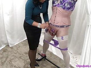 Mistress femdom sissy panty...