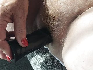 My mature red hairy wife little black friend...