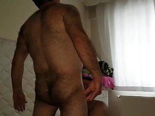 Hairy turkish bear using a cocksucker 039 s...