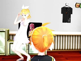 mmd kagamine rin strips butt naked for...