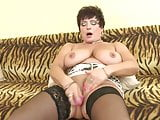 Posh mature mother with big tits and hungry cunt