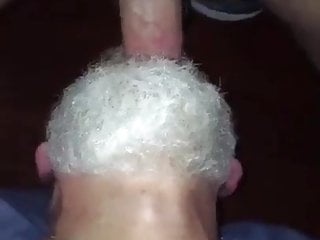 Reverse throatfuck of bearded polardad by hung hairy...