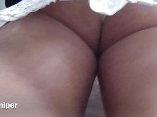 Upskirt – Sexy white panty with busty ass