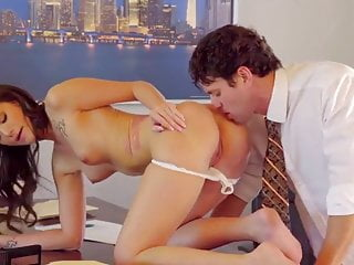 nubilefilms - sexy brunette twerkin on dick