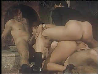 Enjoying double penetration group sex...