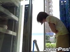 Japanese Amateur Peeing Her Panties Up Completely