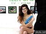 18YO teen girl Ava gets brutal casting
