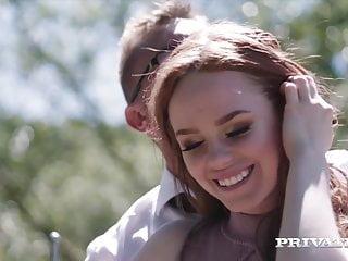 Privatecom - Sexy Redheaded Ella Hughes Rides A Hard Cock