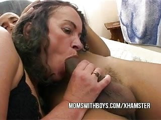 Hot old bitch fucks stepson and friend...