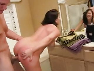 bathroom sex facial