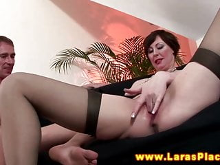 Mature in stockings gets pussy ravaged