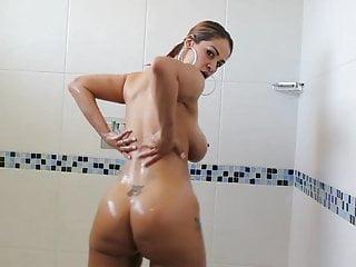 Sexy latina showers and fucks bbc lover...