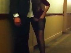 Caught Fucking in Hotel Hallway