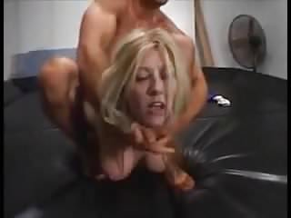 Michelle wrestling a hard cock...