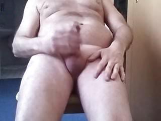 Man masturbates and cum...