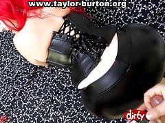 Take Taylor Burton's white booty