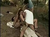 eurobrunette takes 3 outdoors MMMF BB