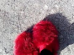 Fuzzy slippers