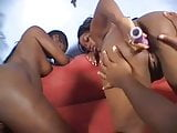 Black pregnant lesbians lactating and dildoing each other