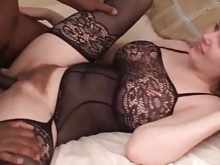 My gf with hairy pussy gets bbc...