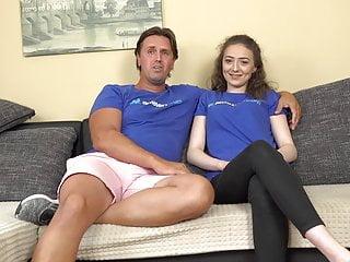 Porn actor turns his new girlfriend into slut