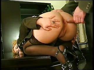 Secretary assfucked stockings...