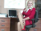 Secretary Milf In Pantyhose Fingering In Office #MrBrain1988