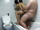 guy with 2 thai hookers in the shower- homemade