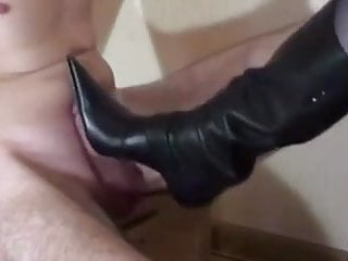 Femdom Foot Fetish Footjob video: boot jobs and jabs lol