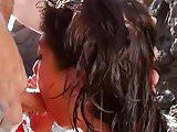 Sexy Carla in bikini and hot sex on beach