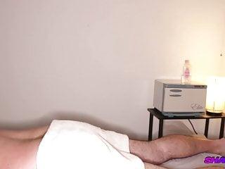 Amateur hidden cam massage with full release handjob...