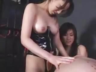 2 Asians Strapon 1 Guy